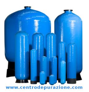 Bombole in vetroresina per filtri