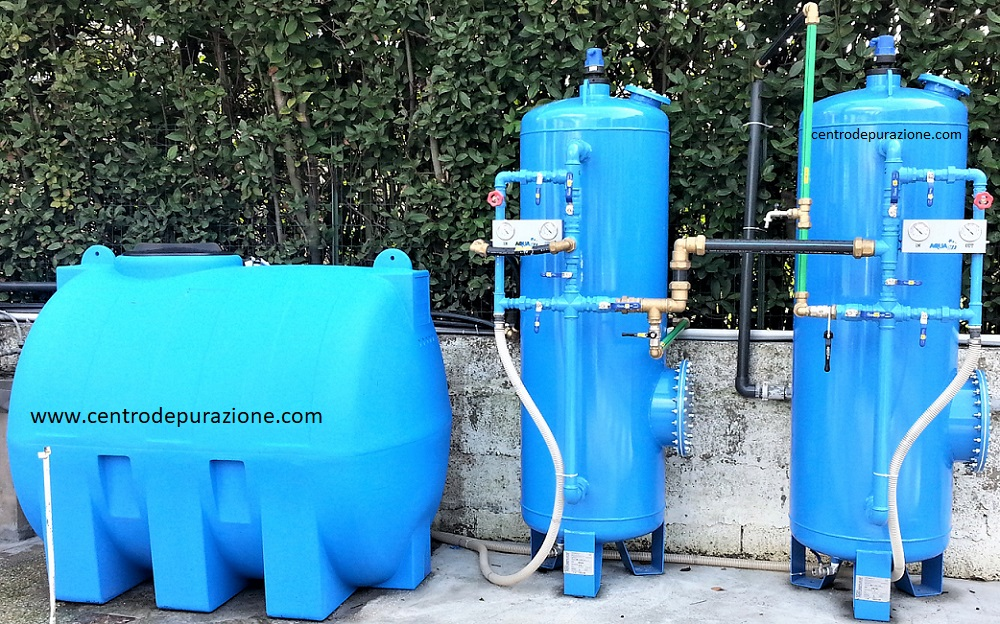 Filtro a carbone per depurazione acqua