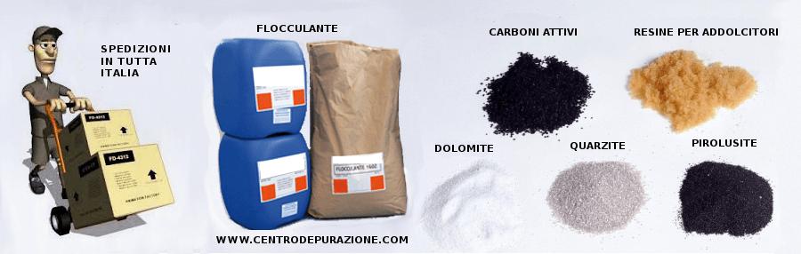 prodotti chimici per depuratori acqua