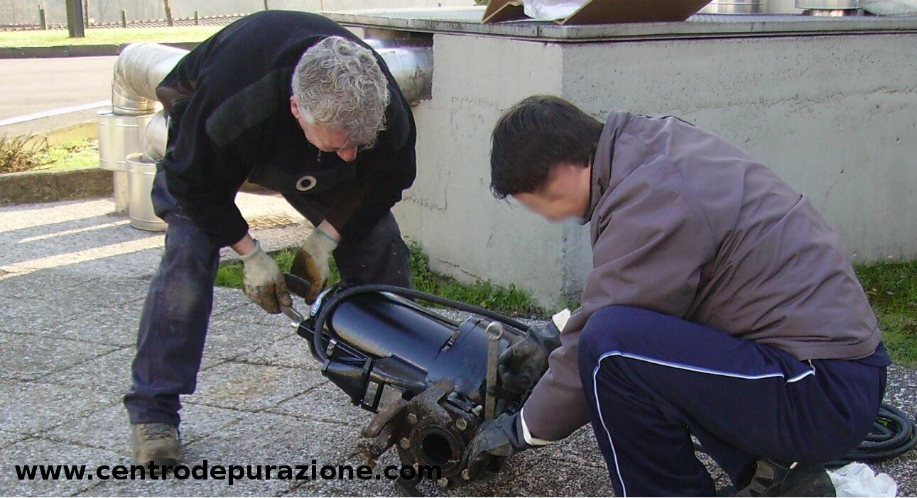 riparazione pompe di sollevamento acque