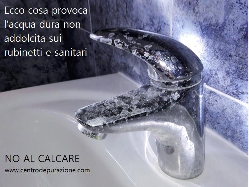 Acqua con calcare